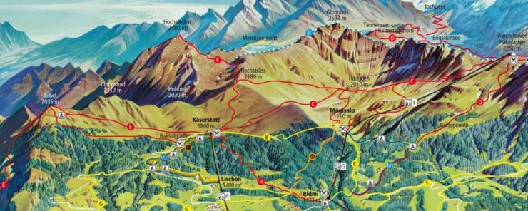 Summer Map Hiking Bergbahnen MeiringenHasliberg AG Haslital